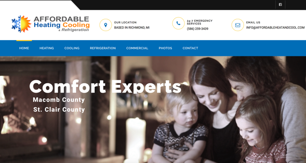 Heating & Cooling Website Design